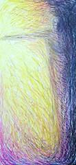Transforming study. (wblake9) Tags: art icons outsiderart drawing feminine goddess drawings expressionism wakefield symbolism oilpastel visionaryart rawvision wakefieldartisttimburton