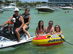 Escapade to Haulover Sandbar (Boating Lifestyle at InterMarineBoats) Tags: family kids fun florida miami sandbar boating haulover jetski goodtimes dogscangoboatingtoo