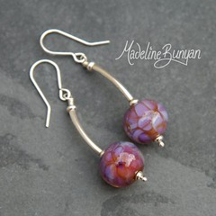 """Pink round earrings • <a style=""""font-size:0.8em;"""" href=""""https://www.flickr.com/photos/37516896@N05/7251224682/"""" target=""""_blank"""">View on Flickr</a>"""