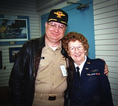 With Elizabeth Wall (Betty) Strohfus WASP pilot (Photographer Al Pike) Tags: minnesota plane germany flying littlefalls spain russia moscow aircraft sac b17 playboy airforce aviator amputee prosthetics ottobock