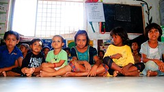 sitting in line ([s e l v i n]) Tags: india kids children kid child faces creche mumbai indiankids childrensitting selvin mumbaimobilecreche workerskids mumbaicreche