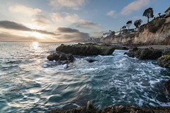 Sunset at Victoria Beach [Explored] (CrapulePHL) Tags: ocean california sunset sea cliff beach rock canon sand raw waves pacific images victoria iso blended 100 usm laguna efs 1022mm 18s 10mm f3545 160s f160 115s