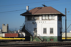 Vernon: Hobart railroad tower (2588) (DB's travels) Tags: california railroad abandoned losangeles laarea