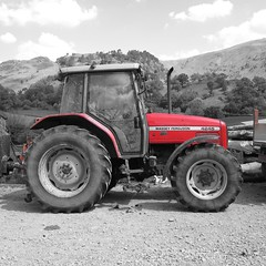 Steve's Tractor (ambo333) Tags: uk camping camp england tractor farm lakedistrict cumbria campsite thelakedistrict thirlmere bridgeendfarm masseyferguson4245