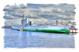 The Soviet Whiskey class submarine S-189. Советская подводная лодка проекта 613 С-189.