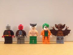 The Most Wanted (Brick@natomy) Tags: lego batman custom hush villains minifigure manbat redhood thejoker rasalghul antihero