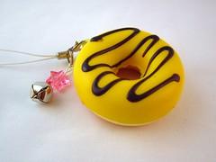 Kawaii Yellow Chocolate Glaze Doughnut Squishy (DoodieBear) Tags: japanese charm donut kawaii squishy