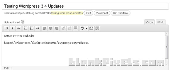 Twitter embeds now better with WordPress 3.4