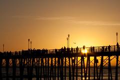 Sunset Oceanside Pier (Misshoney1) Tags: ocean sunset beach water silhouette pier oceanside oceansideca lauraphotos