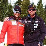 Mike Janyk with Johnny Crichton, 2014 Keurig Cup at Grouse Mountain PHOTO CREDIT: John Preissl