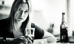 Not all moments can be happy moments (Frank Busch) Tags: portrait blackandwhite bw woman beer monochrome portraits germany blackwhite blonde esther dsseldorf unhappy frankbusch wwwfrankbuschname photobyfrankbusch frankbuschphotography imagebyfrankbusch wwwfrankbuschphoto