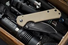Sanrenmu B4-710 G10 (ma_ba) Tags: day desert tan knife dump every flashlight knives pocket edc carry n g10 b4710 sanrenmu