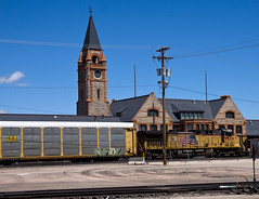Depot Days (Tom Z Dixon) Tags: railroad boy architecture buildings big rail trains days historic engines depot wyoming cheyenne roundhouse
