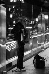 Old guy playing the accordion in Las Vegas (twelve_34) Tags: vegas blackandwhite lasvegas accordion streetperformer thestrip bwphoto blackandwhitephotography