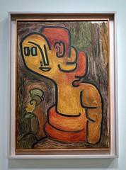 Portrait bust of Gaa (1939) by Paul Klee (Sokleine) Tags: portrait paris france museum painting modernart exhibition muse peinture bust exposition tableau klee buste paulklee gaa