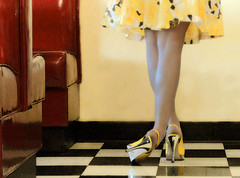 Turnabout is fair play (coollessons2004) Tags: woman vintage shoes poetry legs lovely elegant eoshe krystalsmith
