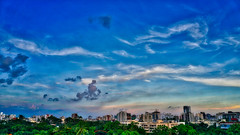 DSC00112_HDR (fahd.b.iqbal) Tags: blue sunset sky tree green birds yellow clouds landscape photography sony dhaka alpha bangladesh hdr gulshan hdrphotography a6300