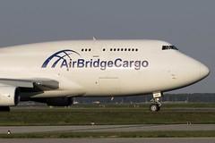Air Bridge Cargo - Boeing 747-412(BCF), TF-AMF (Bernd 2011) Tags: sunset boeing 747 fra taxiing 744 noseshot eddf airbridgecargo 747412bcf tfamf 412bcf