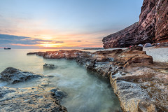 2016-07-04_07-42-24 (Nguyn nh Thnh) Tags: longexposure sunset sea mountain water sunrise rocks asia seascapes cloudy vietnam filter asean quangngai lyson singhray thachkydieutau