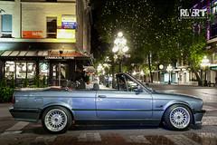 E30-Vert-2609 (Trevor Mah) Tags: vancouver britishcolumbia canada ca e30 convertible night exposure canon 6d 24105 blue cirrus cirrusblaumetallic bmw