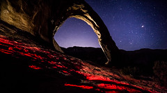 Red Light District (CEBImagery.com) Tags: utah timelapse arch corona moab milkyway