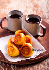 Vanilla ricotta fritters and cups of coffee (manyakotic) Tags: balls board breakfast brunch cakes coffee dessert donut drink food fried fritters homemade pastry ricotta snack sweet treat vanilla