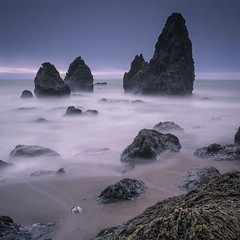 Enchanted Stacks.jpg (Darren Berg) Tags: ocean sanfrancisco california longexposure sunset mist seaweed beach square long exposure waves wave dreamy sausalito enchanted