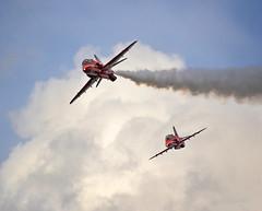 2 of the 9, England, UK (Beardy Vulcan) Tags: summer england aircraft aviation july hampshire airshow farnborough 2014