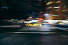 Taxi Driver (carloberry) Tags: nyc newyorkcity usa ny newyork night canon lights taxi 5d canon5d taxidriver panning nycity canonphotos canonphotography 5dm3 panningtaxi canon5dmark3