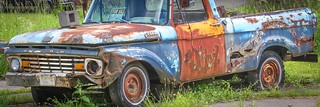 1963 Ford truck in decay