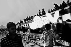 Happy Eid Journey! (Murad Fotografia) Tags: journey travel people transport trainjourney riskyjourney dangerous reportage photojournalism documentary blackandwhite monochrome bangladesh hasanmurad