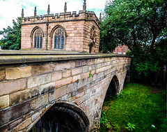 The medieval chapel on the bridge in Rotherham (watergypsyrach) Tags: chapelonthebridge rotherham medieval southyorkshire england uk church chapel bridge nikoncoolpixs7000 urbanlandscape
