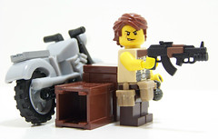 AK47-GP30 V.3 (Silenced_pp7) Tags: brick bike hair paint arms lego citadel painted terrorist tiny cycle motorcycle modified anakin tt minifig custom russian figures vignette figs wolverine ak47 minifigure tactical mercenary vig gp30 custompainted brickarms ak47gl ak47gp30