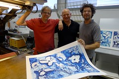 "JVJ printing litography at Kristiansand Grafikkverksted- with the famous Christian Bramsen from Atelier Clot, Bramsen & Georges Paris • <a style=""font-size:0.8em;"" href=""https://www.flickr.com/photos/71143759@N06/6959450442/"" target=""_blank"">View on Flickr</a>"