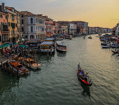 Grand Canal (Boyd Hunt) Tags: travel venice italy water canon river canal europe rialto gondolier gonola