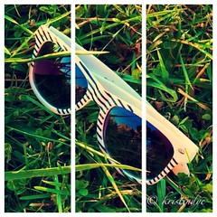 Zebra Striped Sunglasses * (kristindye) Tags: park blackandwhite sun cute green grass sunglasses fashion collage outside outdoors photography glasses three blackwhite colorful vibrant edited stripes creative stripe clarity ground shades zebra greenery accessories normal blacknwhite section bnw striped edit watermark sections iphone watermarked zebrastripes accessorie zebraprint woodlandmound iphone4 woodlandmoundpark zebradesign threesection iphoneography iphoneonly instagramapp