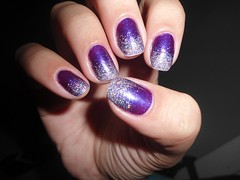 roxinha (Calu Ermetici) Tags: art glitter 3d purple ultimate nail carol roxa esponja brilho capricho degrad roxinha roxinho analoon