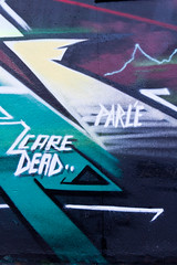 To Parle, Care and Dead... (Alf Myers - AlfaGraphy) Tags: street england urban eye art wall dead graffiti style spray lancashire tagged preston care parle theshipinn teaone