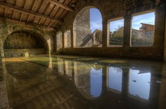 Lavoir de Fondremand (Philippe Saire || Photography) Tags: old light france reflection water architecture canon eos eau arch village arc sigma wideangle wash lumiere 7d 1020mm reflets hdr franchecomt vieux ancien lavoir photomatix hautesane fondremand philippesaire