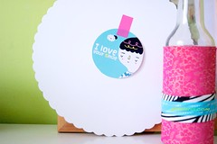 Pinkrain stiker ;) (Artoleria) Tags: homedecor walldecor stikers iloveyoursmile diyframe pinkraindesign cakeplatereuse