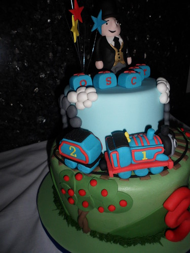 Thomas the Tank Engine Two Tier Cake