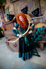 Merida and the Bears (abelle2) Tags: princess disney disneyworld merida pixar brave wdw waltdisneyworld magickingdom fantasyland disneyprincess fairytalegarden disneypixar princessmerida