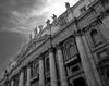 vatican city (Dave_B_) Tags: city sky italy sculpture pope vatican rome roma stone buildings blackwhite europe italia catholic god faith religion saints dramatic vaticano italiano vaticancity