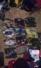 collection as of 5/22/12 (NJwegohard(all shoes FS/T SALE!!!! COMBATS 54'S NI) Tags: new red orange black west yellow speed vintage print grey team