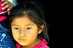 Sweet Mayan little girl. Thinking of... (Daniele Romeo Ph) Tags: travel portrait people woman beach face portraits children mexico women village child faces maya yucatan villages aguaazul sanlorenzo sudamerica messico quintanaroo mayanculture tresmarias peoplefaces colorphotoaward danieleromeo eldelirio