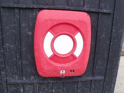 West Bay - East Beach - hut - life buoy