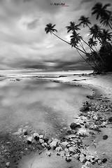 The Path of Truth (Azam Alwi) Tags: longexposure sky beach stone malaysia slowshutter kijal pantai terengganu kemaman kualaabang d700 vertorama terengganuindah monophotography azamalwi pantaibatupelanduk