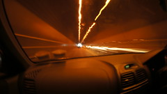 Drive By (Shoot Too Kill) Tags: light blur car speed blurry exposure driving slow tunnel jersey micro43 sonynex5
