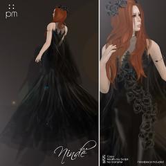 Ninde in Black (http://www.purplemoonsl.com) Tags: fashion dress sl secondlife formalwear glam gown elegant pm purplemoon