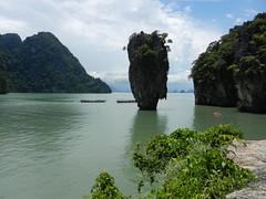 James Bond Island near Phuket, Thailand (Travel Seer) Tags: travel blue green water thailand island boat asia tropical phuket phangngabay
